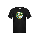 Youth Black T Shirt-Vermont Catamounts Circle