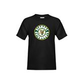 Youth Black T Shirt-Vermont Catamounts Circle