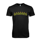Next Level SoftStyle Black T Shirt-Arched Vermont Catamounts