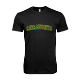 Next Level SoftStyle Black T Shirt-Arched Catamounts