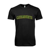 Next Level SoftStyle Black T Shirt-Arched Catamounts