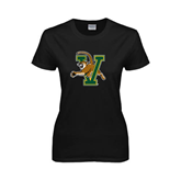 Ladies Black T Shirt-Official Logo