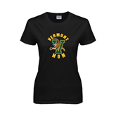 Ladies Black T Shirt-Mom