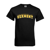 Black T Shirt-Arched University of Vermont