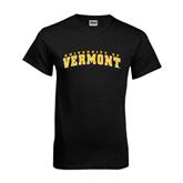 Black T Shirt-Arched University of Vermont