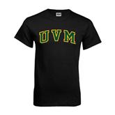 Black T Shirt-Arched UVM