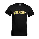 Black T Shirt-Arched Vermont