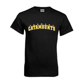 Black T Shirt-Arched Vermont Catamounts