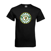 Black T Shirt-Vermont Catamounts Circle