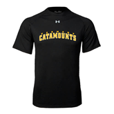 Under Armour Black Tech Tee-Arched Vermont Catamounts