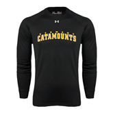 Under Armour Black Long Sleeve Tech Tee-Arched Vermont Catamounts