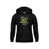 Youth Black Fleece Hoodie-Official Logo
