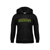 Youth Black Fleece Hoodie-Arched University of Vermont