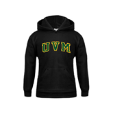 Youth Black Fleece Hoodie-Arched UVM