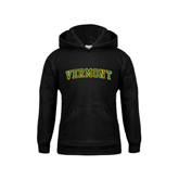 Youth Black Fleece Hoodie-Arched Vermont
