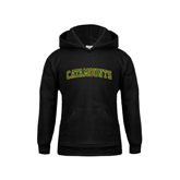 Youth Black Fleece Hoodie-Arched Catamounts