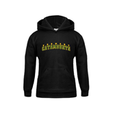 Youth Black Fleece Hoodie-Arched Vermont Catamounts
