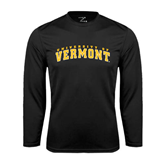 Syntrel Performance Black Longsleeve Shirt-Arched University of Vermont