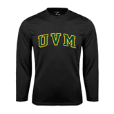 Syntrel Performance Black Longsleeve Shirt-Arched UVM