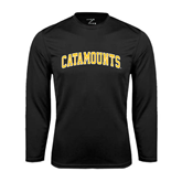 Syntrel Performance Black Longsleeve Shirt-Arched Catamounts