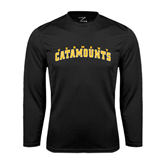 Syntrel Performance Black Longsleeve Shirt-Arched Vermont Catamounts