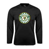 Syntrel Performance Black Longsleeve Shirt-Vermont Catamounts Circle