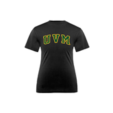 Youth Syntrel Performance Black Training Tee-Arched UVM