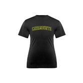 Youth Syntrel Performance Black Training Tee-Arched Catamounts