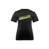 Youth Syntrel Performance Black Training Tee-Slanted Vermont Catamounts