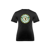 Youth Syntrel Performance Black Training Tee-Vermont Catamounts Circle