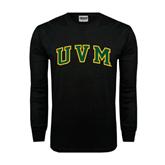 Black Long Sleeve TShirt-Arched UVM