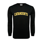 Black Long Sleeve TShirt-Arched Catamounts