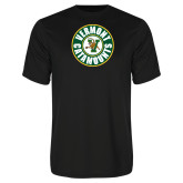 Syntrel Performance Black Tee-Vermont Catamounts Circle