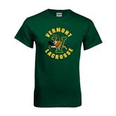 Dark Green T Shirt-Lacrosse