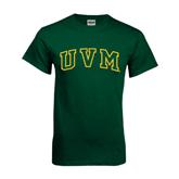 Dark Green T Shirt-Arched UVM
