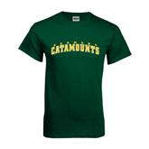 Dark Green T Shirt-Arched Vermont Catamounts