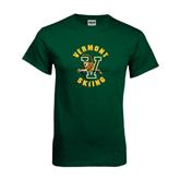 Dark Green T Shirt-Skiing