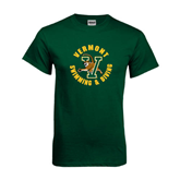 Dark Green T Shirt-Swimming and Diving