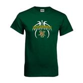 Dark Green T Shirt-Basketball in Ball Design