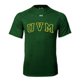 Under Armour Dark Green Tech Tee-Arched UVM