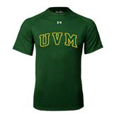 Under Armour Dark Green Tech Tee-Arched UVM