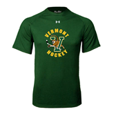 Under Armour Dark Green Tech Tee-Hockey