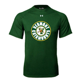 Under Armour Dark Green Tech Tee-Vermont Catamounts Circle