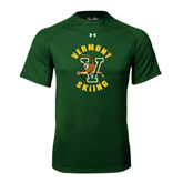 Under Armour Dark Green Tech Tee-Skiing