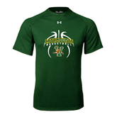 Under Armour Dark Green Tech Tee-Basketball in Ball Design