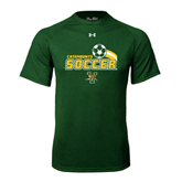 Under Armour Dark Green Tech Tee-Soccer Swoosh Design
