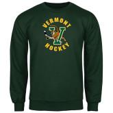Dark Green Fleece Crew-Hockey