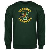 Dark Green Fleece Crew-Lacrosse