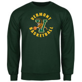 Dark Green Fleece Crew-Basketball