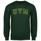 Dark Green Fleece Crew-Arched UVM